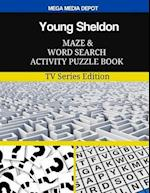 Young Sheldon Maze and Word Search Activity Puzzle Book
