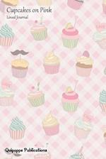 Cupcakes on Pink Lined Journal