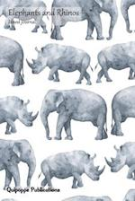 Elephants and Rhinos Lined Journal