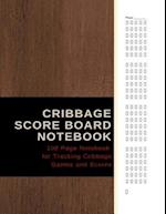 Cribbage Score Board Notebook