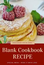 Blank Cookbook Recipe