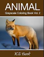 Animal Grayscale Coloring Book Vol. 2