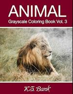 Animal Grayscale Coloring Book Vol. 3