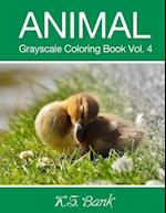 Animal Grayscale Coloring Book Vol. 4