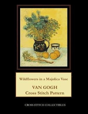 Wildflowers in a Majolica Jug: Van Gogh Cross Stitch Pattern