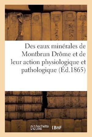 Bog, paperback Des Eaux Minerales de Montbrun Drome Et de Leur Action Au Point de Vue Physiologique Et Pathologique af Impr Et Lith Js Jean