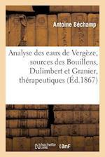 Analyse Des Eaux de Vergeze Sources Des Bouillens, Dulimbert Et Granier = Analyse Des Eaux de Verga]ze Sources Des Bouillens, Dulimbert Et Granier af Antoine Bechamp