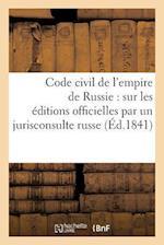 Code Civil de L'Empire de Russie