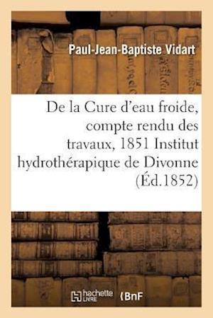 Bog, paperback Cure D'Eau Froide, Compte Rendu Des Travaux, 1851 A L'Institut Hydrotherapique de Divonne Ain = Cure D'Eau Froide, Compte Rendu Des Travaux, 1851 A L' af Vidart-P-J-B