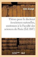 Thèses Pour Le Doctorat Ès-Sciences Naturelles
