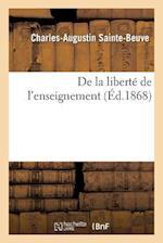 de La Liberte de L'Enseignement af Charles-Augustin Sainte-Beuve