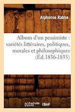 Album D'Un Pessimiste af Alphonse Rabbe