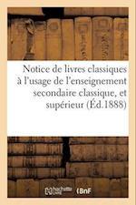 Notice de Livres Classiques af Hachette Et Cie