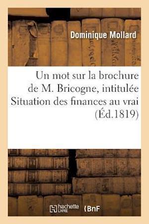 Un Mot Sur La Brochure de M. Bricogne, Intitulee