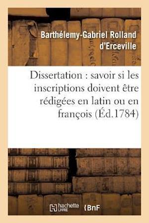 Bog, paperback Dissertation af Rolland D'Erceville-B-G