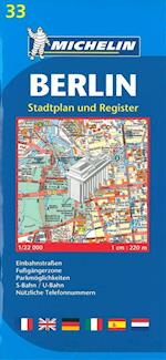 Berlin Plan (Michelin City Plans, nr. 0033)