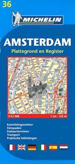 Amsterdam, Michelin 36 1:12 500 (Michelin City Plans)