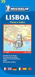 Lisbon Plan (Michelin City Plans, nr. 0039)