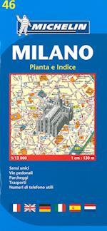 Milano, Michelin 46 1:13 000 af Michelin