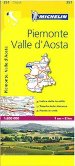Piemonte and Vallee Aoste (Michelin Regional Maps, nr. 0351)