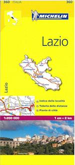 Lazio (Michelin Regional Maps, nr. 0360)