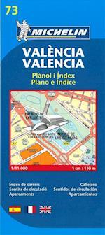 Map 9073 Valencia (Michelin City Plans, nr. 9073)