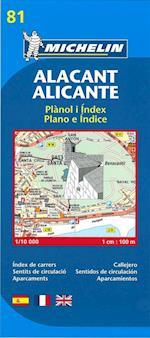 Map 9081 Alicante (Michelin City Plans, nr. 9081)