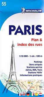 Paris Plan & Index des rues*, Michelin 55
