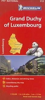 Michelin Grand Duchy of Luxembourg Road and Tourist Map (Michelin Maps, nr. 717)