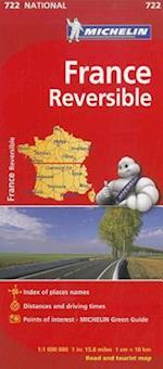 Michelin France Reversible Road and Tourist Map (Michelin Maps, nr. 722)