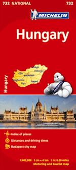Hungary, Michelin National Map 732 (Michelin National Maps, nr. 732)