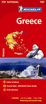 Greece, Michelin National Map 737 (Michelin National Maps, nr. 737)