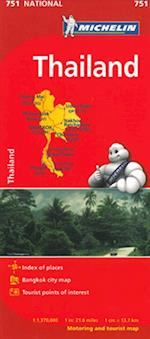 Thailand Map (Michelin National Maps S, nr. 751)