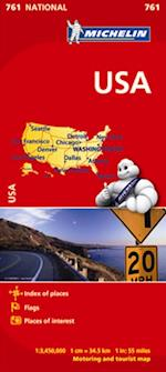 USA Map (Michelin National Maps S, nr. 761)