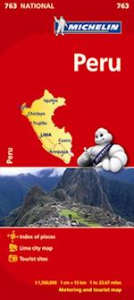 Peru Map (Michelin National Maps S, nr. 763)
