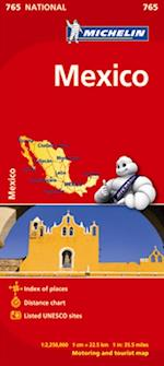 Mexico Map (Michelin National Maps S, nr. 765)