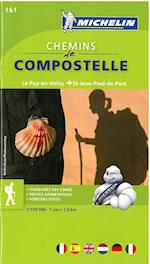Chemins de Compostelle: Le Puy-en-Velay to Saint-Jean-Pied-de-Port, Michelin Zoom 161