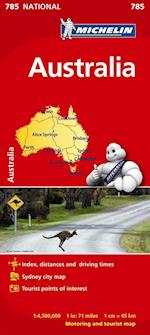 Australia Map (Michelin National Map, nr. 785)