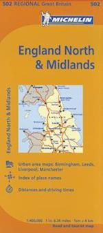 Michelin Map England North & Midlands (Michelin Maps)