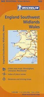 Michelin England Southwest, Midlands, Wales / Michelin Angleterre Sud-Ouest, Midlands, Pays de Galles (Maps/Regional (Michelin))