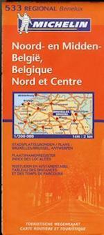 Michelin  North & Central Belgium / Michelin Belgique Nord et Centre (Michelin Maps)