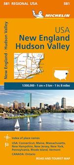 Michelin Map USA New England, Hudson Valley (Michelin Maps)