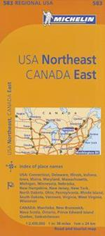 Michelin Map USA Northeast, Canada East (Michelin Regional Maps)