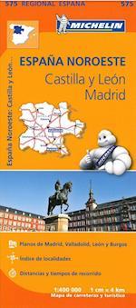 Michelin Spain Blad 575: North Spain: Castilla y Leon, Madrid 1:400 000