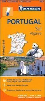Portugal Sul, Algarve (Michelin Regional Maps, nr. 593)