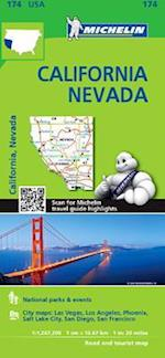 Michelin USA California, Nevada Map 174 af Michelin Travel Publications