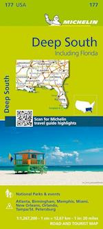 Michelin USA Deep South Including Florida af Michelin Travel Publications