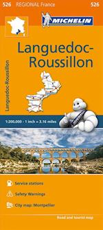 Languedoc-Roussillon - Michelin Regional Map 526