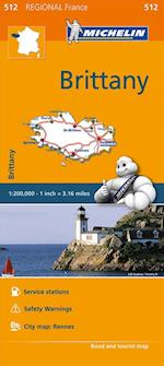 Brittany - Michelin Regional Map 512