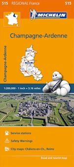 Champagne-Ardenne - Michelin Regional Map 515